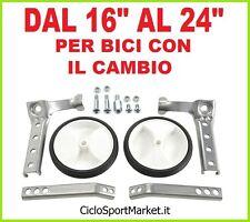"""Stabilizzatori/Rotelle per bicicletta con cambio / Ruota diametro dal 16"""" al 24"""""""