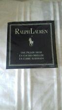 "A New Ralph Lauren 30"" sq Oxford style buttoned pillow sham with pintucks"