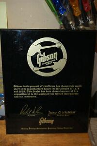 1978 Vintage Gibson Authorized Dealer Award Plaque Les Paul Firebird 335 SG