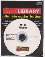 Lick Library Learn to Play ZZ Top Guitar Jamtrax Jam Trax CD ROCK PLAYALONG TUSH