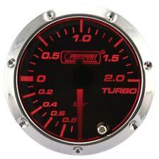 PROSPORT 7 Color Led 52mm Smoke Turbo Boost Gauge BAR
