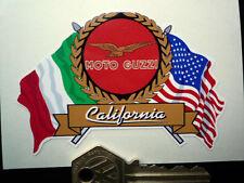 MOTO GUZZI CALIFORNIA Flags & Scroll helmet or motorcycle sticker V7 T3 etc