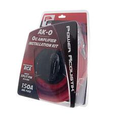 Power Acoustik AK-0 0/1 Gauge Amplifier Wiring Kit 0g AMP Wire w/ 150A ANL + RCA