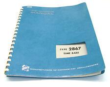 Tektronix 2B67 Time Base, Instruction Manual, Bedienung & Service, 560er Scopes