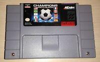 Champions World Class Soccer Super Nintendo SNES Vintage original Game Cartridge
