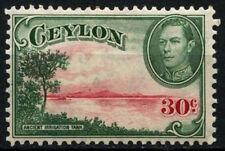 Ceylon 1938-49 SG # 393B, 30c kgvi wmk verticale MH #D 29420