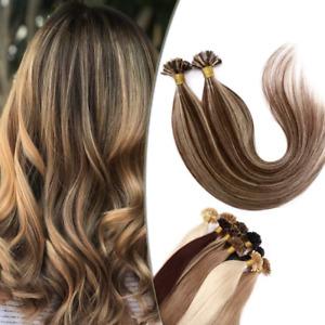 Sego Extension Keratine 1G Cheveux Naturel Longue Raide 100 Mèches - Rajout Che
