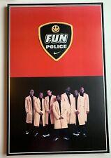 "VTG 1998 Nike HQ ""Fun Police"" Framed Poster 23"" x 35"""