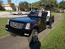 BAD ASS 2012 custom Cadillac Escalade 4 Passenger Golf Cart Car HARLEY PAINT WOW