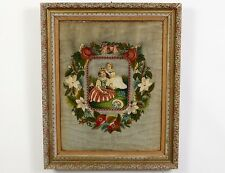 Victorian Framed Needlepoint Picture Lot 58