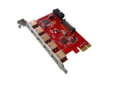 PCIE USB 3.0 - 7 PUERTOS : 5 puertos en escuadra + 2 puertos en conector 19 pts