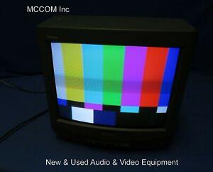 """Sony KV-13M40 13"""" Trinitron Color TV Monitor No Remote"""