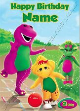 Personalised Birthday Card - - Barney The Dinosaur - Son Nephew Brother
