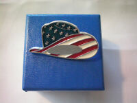 Vintage PATRIOTIC Hat Lapel Pin Made in USA