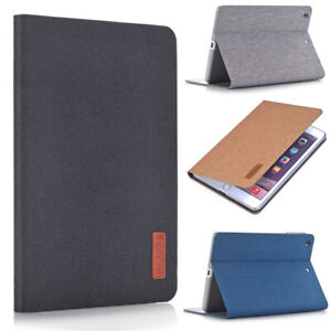 Canvas Cloth Smart Case Cover For iPad 5 6 7 8 mini 1 2 3 Air 4 Pro 11 12.9 2021