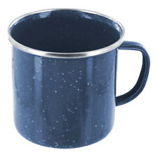 HIGHLANDER DELUXE ENAMEL DRINKING MUG DURABLE METAL ARMY HYDRATION CUP NAVY BLUE