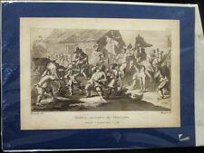 Antique Hogarth aquatinte Circ 1799 S Hudibras skimington satire CARICATURE