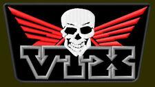 "HONDA VTX SKULL EMBROIDERED PATCH ~5"" x 2-3/4"" RICAMATO BORDADO PARCHE AUFNÄHER"