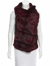NWT Helmut Lang Flux Fur & Leather Vest Intermix Exclusive Red S