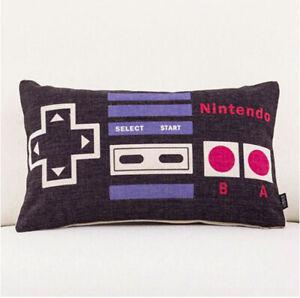 Game Pillow Case Funny Cartoon Throw Pillow Cotton Linen 30x50cm Cushion Cover