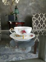 Cherry China Vintage Made In Japan Roses And Gold Accents Teacup & Saucer.