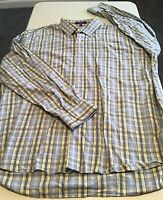 Lot Of 2 Men's Alan Flusser Long Sleeve Plaid Shirts Size XXL