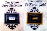2 BARS ACB Gold & Platinum 1GRAIN Bullion Bars w/Certificates of Authenticitys $