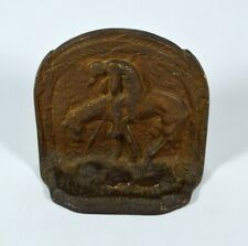Vintage 'End of the Trail' Native American on Horse Cast Iron Bookend/Doorstop