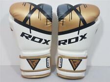 Pre-Owned Rdx F7 8 Ounce Boxing Sparring Gloves White/Gold/Black Bgrf7 Thai Xlnt