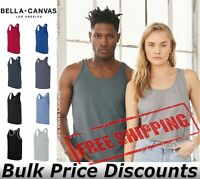 Bella + Canvas Unisex Jersey Tank Top Blank Sleeveless Shirt 3480 up to 2XL