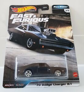 Hot Wheels Premium Fast And Furious '70 Dodge Charger R/T Matt Black Real Riders