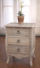 2 x Bedsides Chest French Provincial Tall Grey Bedside Table Drawer Night Stand