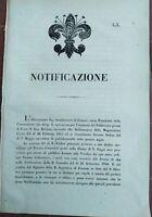 1847 BANDO SU GRANDE VENDITA DEI TERRENI DI FIRENZE