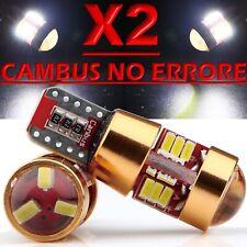 2 LED T10 27 SMD NO Errore 3014 BIANCO Lampade Lampadine Xenon Luci Posizione 5W