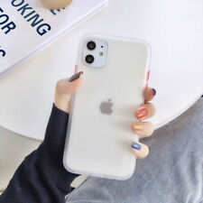 For iPhone 12 11 Pro Max XS X XR Shockproof Clear Hybrid Bumper Matte Case Cover