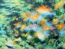 """Nuevo Richard Freer Original """"Luces en el agua"""" paisaje pintura de flujo de río"""