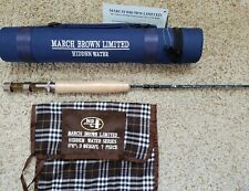 "March Brown Hidden Waters Convertible Travel Fly Rod 6'6"" 3 Wt 7 Piece"