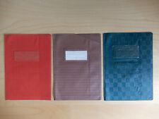 3 alte Heftschoner aus Kunststoff, Schutzumschläge Schulheft DIN A5