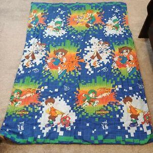 Vintage 2000 Digimon Digital Monsters Reversible Comforter 58x83 Bed Spread