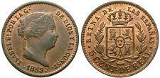 ISABEL II. 5 CENTIMOS DE REAL. 1859. SEGOVIA.