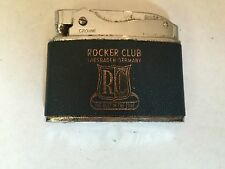 Vintage 1950's Cigarette Lighter - Rocket Club Wiesbaden, Germany by Crown