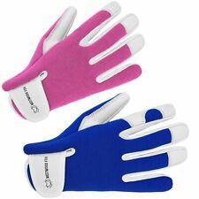 More details for ladies men leather gardening gloves thorn proof garden work gloves