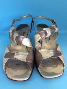 Millennium Sabrina Chic Ladies Leather Shoes Sandal Size 39 (6) (jr54)
