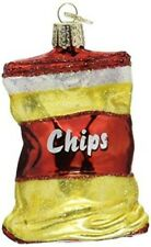Old World Christmas 32154 Glass Blown Bag of Chips Ornament