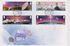 Unaddressed Isle of Man FDC First Day Cover 2003 Mann in Space Stamp Set