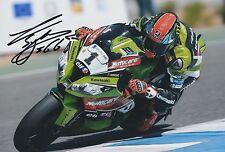 Tom sykes hand signed photo 12x8 kawasaki mondial superbike champion 1.