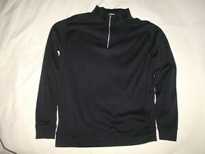 PETER MILLAR Pullover Shirt Jacket,Medium,Black,1/4 Zip,All Cotton,Ex Cond,Nice!