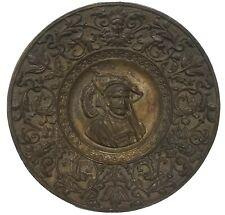 Victorian Cast Iron Portrait Charger  Mythological Faces & Griffins Wall Plaque