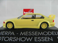 """Herpa BMW M3 GTR (1993) """"MOTORSHOW ESSEN ´94"""" in hellgelb 1:87/H0 NEU/OVP/PC"""