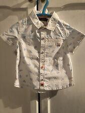 New Sergent Major, French Designer Baby Boy Short Sleeve Shirt, 12 Months